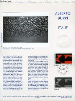 Document philatelique officiel n°34-92 - alberto burri - italie (n°278 yvert et tellier)