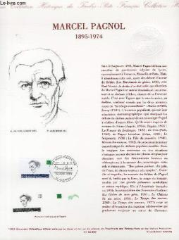 Document philatelique officiel - marcel pagnol 1895-1974 (n°2802 yvert et tellier)