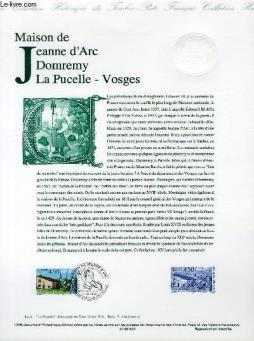 Document philatelique officiel - maison de jeanne d arc domremy la pucelle - vosges (n°3002 yvert et tellier)