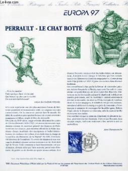 Document philatelique officiel -europa 97 - perrault - le chat botte (n°3058 yvert et tellier)