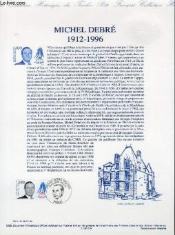 Document philatelique officiel - michel debre 1912-1996 (n°3129 yvert et tellier)