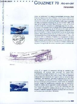 Document philatelique officiel - couzinet 70 - arc en ciel (n°av 64 yvert et tellier)