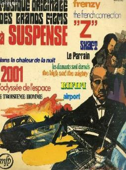 Disque vinyle 33t 2001-odyssee de l4espace, le parrain, the french connection, rififi,  z , the high and the mighty, shaft, le troisieme homme, dans la chaleur de la nuit, airport, les diamants sont eternels, frenzy.