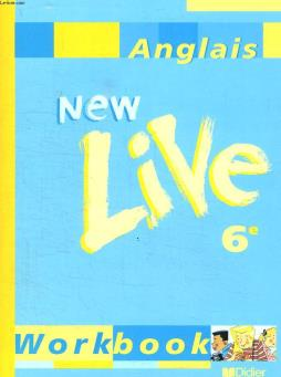 New live 6e. anglais . workbook.