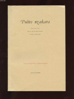 Classiques africains 1. poetes nzakara