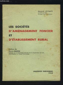 Les societes d amenagement foncier et d etablissement rural.