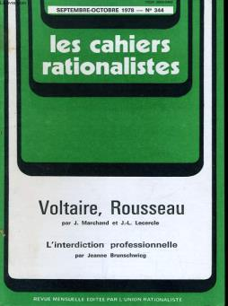 Les cahiers rationalistes n°344 - l interdiction professionnelle