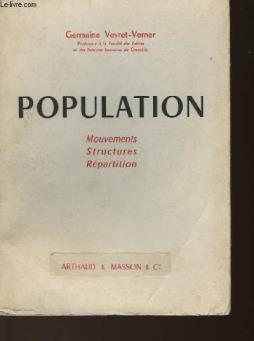 Population - mouvements - structure - repartition