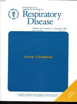 Respiratory diesease - volume n°146 - n°5 - supplement : airway circulation