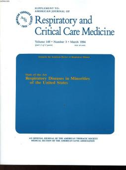 Respiratory and critical care medicine - volume 149 - n°3