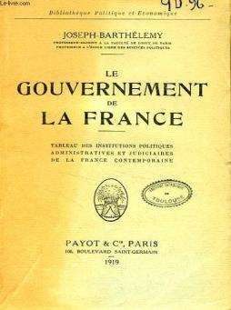 Le gouvernement de la france