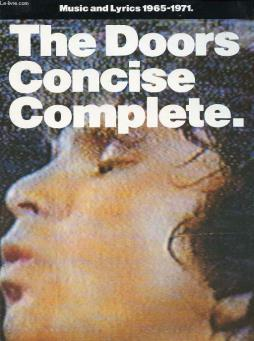 The doors concise complete, music and lyrics, 1965-1971