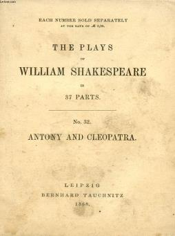 Antony and cleopatra (the plays of william shakespeare, n° 32)