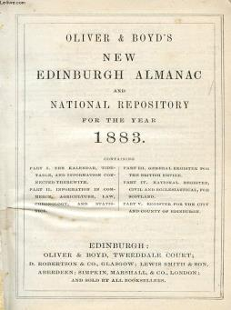 Oliver & boyd s new edinburgh almanac and national repository for the year 1883